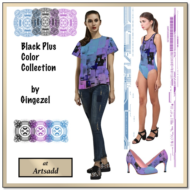 Women's Black Plus Color Collection by Gingezel at ArtsAdd